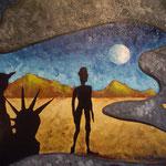 1998 - l'ibertà del povero e del ricco - oil on canvas - 70 x 50