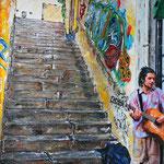 2018 - streetart - mixed media with oilfinish on PVC - 70 x 100
