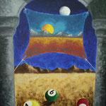 1998 - l'inizio -oil on canvas - 50 x 70