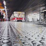 2013 - metro - mixed media with oilfinish on PVC - 78 x 110
