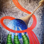 2004 - bene e male - oil on canvas 50 x 70