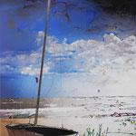 2013 - windsurf - mixed media with oilfinish on PVC - 70 x 100
