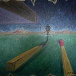 1996 - in caso di aiuto - oil on canvas - 60 x 50