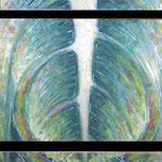 2006 - rottura della protezione - mixed media oilfinish on canvas - 40 x 90