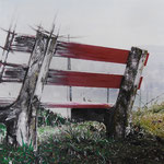 2014 - *have a break - mixed media with oilfinish on PVC - 100 x 50