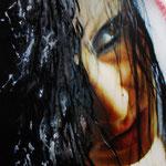 2011 - wet look - mixed media with oilfinish on PVC - 69 x 50