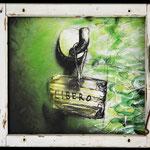 2014 - libero - mixed media with oilfinish on PVC and wood windows - 57 x 50