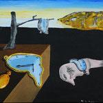 1993 - il sogno - replica dalì - oil on  wood - 27 x 24
