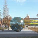 """begehbare Raumskulptur """"SPHÄRE"""", Endauswahl bei K.a.B.-Wettbewerb """"Kunst am TTI Ilmenau, zusammen mit L. Andritz, Leipzig"""