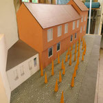 "Architekturmodell, Endauswahl des bundesweiten K.a.B.- Wettbewerbs ""Mahnmal zur Hexenverbrennung in Bamberg"" 2014"