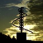 """kinetische Metallskulptur """"Berg.Werk"""", 3. Preis beim Objektwettbewerb """"Maffaispiele"""", Auerbach i.d. Oberpfalz, 2004"""