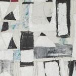 """Autor: Francisco Huazo  Título: De la Serie """"El Mar Bordando al Cielo"""" Técnica: Pintura con pigmentos cerámicos, óleo y tierras/ panel de madera. Medidas: 123cm x 44cm Año: 2016 Clave: 09P FH 16"""