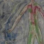 """Autor: Francisco Huazo Título: de la serie """"Homenaje a Batallas Olvidadas"""" Técnica mixta: pigmentos, óleos y tierras/panel de madera Medidas: 44 x 122 Año: 2014 Clave: 70P 14 FH"""