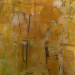 """Autor: Francisco Huazo Título: de la serie """"Homenaje a Batallas Olvidadas"""" Técnica mixta: pigmentos, óleos y tierras/panel de madera Medidas:201cmx 123 cm Año: 2014 Clave: 69P 14 FH"""