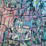 """Autor: Francisco Huazo  Título: """"Ecos rituales""""  Técnica: pigmentos cerámicos, óleo y tierras / panel de madera. Medidas:180cm x122 cm Año: 2015 Clave: 04P FH 15"""