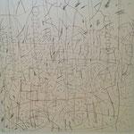 """Autor: Francisco Huazo  Título: """"A cielo Abierto"""" Técnica: / tela. Medidas: 180 x 180 cm Año: 2015 Clave: 10P FH 15"""