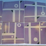 """Título: De la Serie """"Escalera al Cielo"""" Técnica: Mosaico en Cerámica, pigmentos cerámicos / esmalte transparente, alta Temp. Medidas: 94 x 47 cm Año: 2015 Clave: 10M MS 15"""