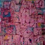 """Autor: Francisco Huazo Título: De la serie """"Vistas desde el cielo"""" Técnica mixta: óleo/ pigmentos y tierras /panel de madera. Medidas: 122 x 200 cm. Año: 2012 Clave: FHP-TB-048"""