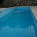 ca 100 Tonnen Wasser nimmt der Pool auf