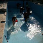 Der Pool vor dem Füllen