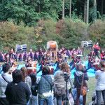 阿蘇YMCAが運営している、赤水保育園の太鼓演奏。