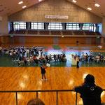 体育館での京都部会です。