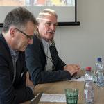Podiumsdiskussion mit Roy Salveter (links), ehemaliger Geschäftsführer
