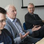Andreas Moor (ganz links), System Engineer verwaltet IT-Infrastruktur während Online-Veranstaltung