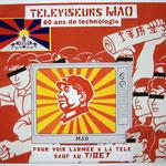"""89 """"Mao"""" acrylique et collage/toile 100x80cm 2009 900€"""