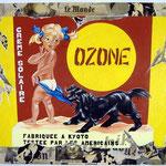 "33 ""Ozone"" acrylique et collage/toile 100x80cm 2005 900€"