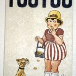 """2 """"Toutou"""" acrylique/toile 45,5x31,5cm 2002 250€"""