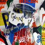 """0143 """"ARTICHAUT"""" Acrylique/toile 100x100cm 2019 2000€"""