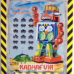 """101 """"Kadhafuir"""" acrylique/toile 100x80cm 2011  900€"""