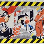 """92 """"Chantier de pub"""" acrylique/toile 122x38,5cm 2010  700€"""