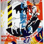 """103 """"La Vacherie"""" acrylique/toile 80x60cm  600€"""