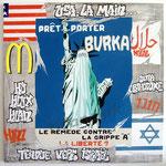 "90 ""Burka"" acrylique/toile 100x100cm 2009 1200€"