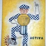 """11 """"Loupiote"""" acrylique/toile 45,5x31,5cm 2002 250€"""