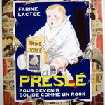 """50 """"Preslé"""" acrylique et collage/toile 100x80cm 2007 vendu"""