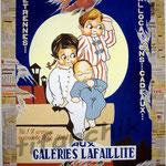 "39 ""Galeries Lafaillite"" acrylique et collage/toile 100x80cm 2006 900€"