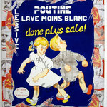 """64 """"Poutine"""" acrylique et collage/toile 100x80cm 2007 900€"""