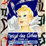 """62 """"Neige des cîmes"""" acrylique/toile 80x60cm 2008"""