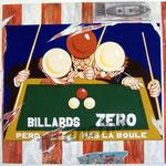 """60 """"Zéro"""" acrylique et collage/toile 100x80cm 2007 900€"""