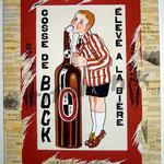 """41 """"Bock"""" acrylique et collage/toile 80x60cm 2006 600€"""