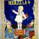 """31 """"Nouille la +"""" acrylique et collage/toile 100x80cm 2005 900€"""
