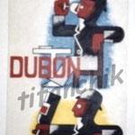 """16 """"dubonpif"""" acrylique/toile 150x50cm 2003 900€"""