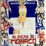 """55 """"Albière 2 Monaco"""" acrylique/toile 80x60cm 2007 600€"""