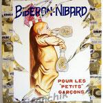"""72 """"Nibard"""" acrylique et collage/toile 100x80cm 2008 900€"""