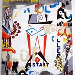"105 ""Start"" acrylique/toile 50x40cm 2012  400€"
