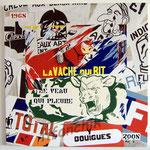 """71 """"le veau qui pleure"""" acrylique/toile 100x100cm 2008 1200€"""
