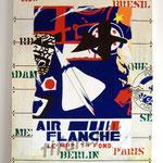 """80 """"Air Flanche"""" acrylique/toile 80x60cm 2009 600€"""